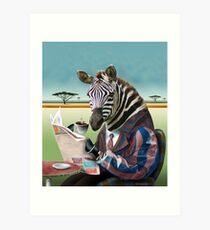 Morgen Zebra Kunstdruck