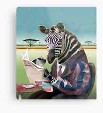 Morgen Zebra Metalldruck