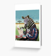 Zebra Morning Greeting Card
