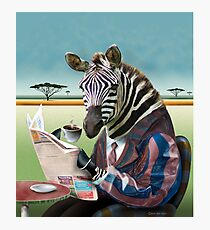 Zebra Morning Photographic Print
