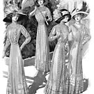 Edwardian Ladies at a Garden Party 1  by VictorianTrends