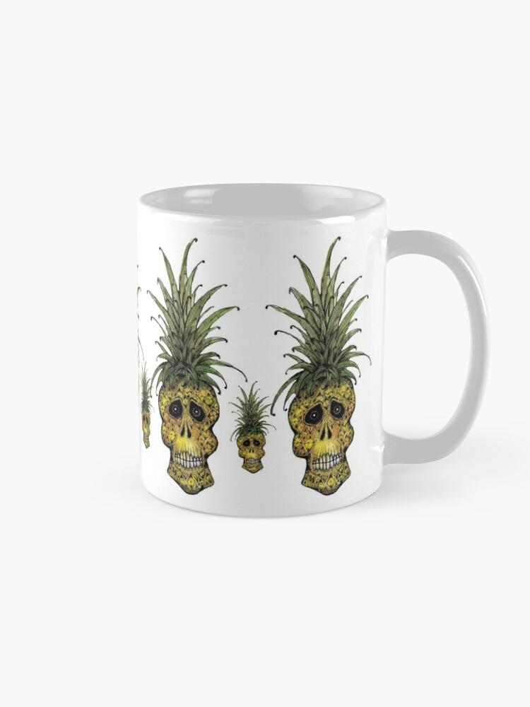 Alternate view of Pineapple Skull  Mug