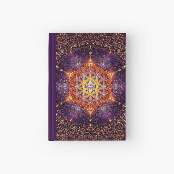 Flower of Life Golden Lace Mandala Hardcover Journal