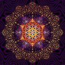 Flower of Life Golden Lace Mandala by Lilyas