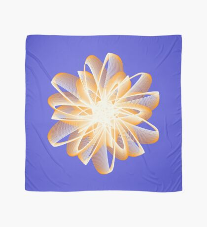 Abstract flower in orange Scarf