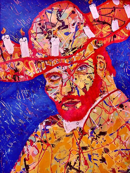 The Man With A Hat Full Of Candles ( Homage to Vincent) by Richard  Tuvey