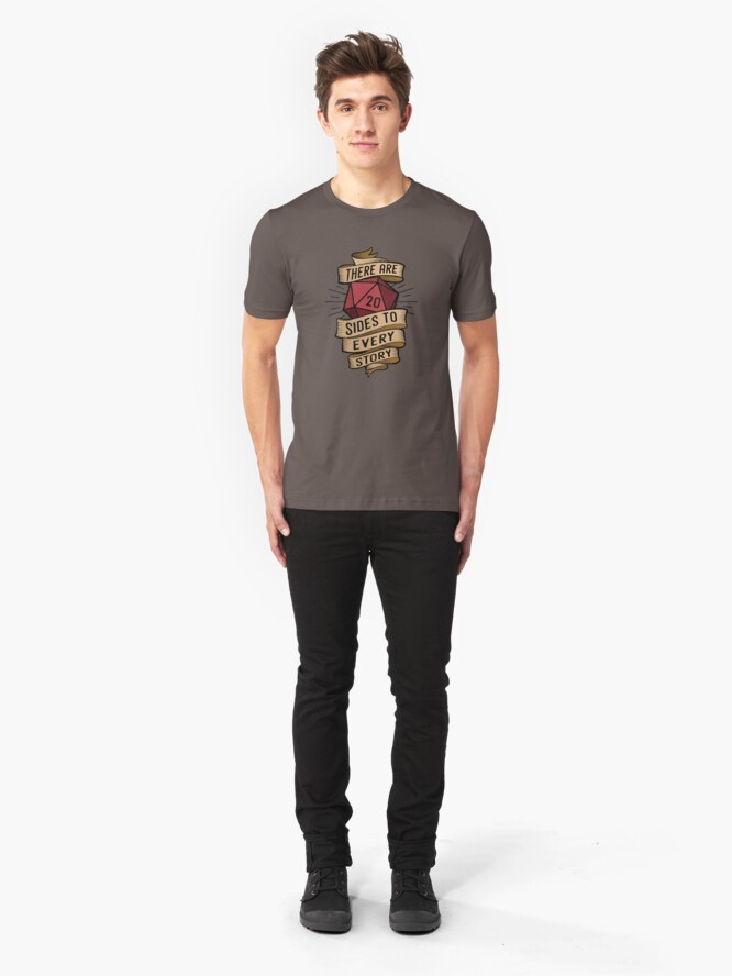 Alternate view of 20 sides to every story Slim Fit T-Shirt
