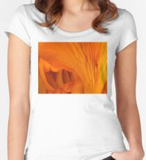 Orange Fungi Tunnel Of Love Women's Fitted Scoop T-Shirt