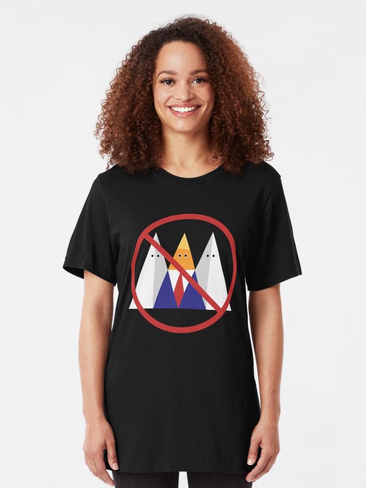 Alternate view of No Trump. No KKK. Slim Fit T-Shirt