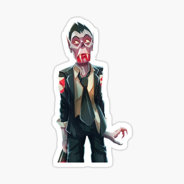 Scared Mort Sticker