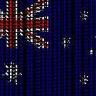 Australian Patriot II (type on black) by Ray Warren
