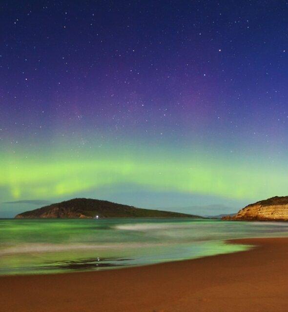 Moonlit Aurora Over Betsy by James Garlick