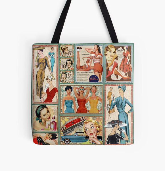 The 50s All Over Print Tote Bag