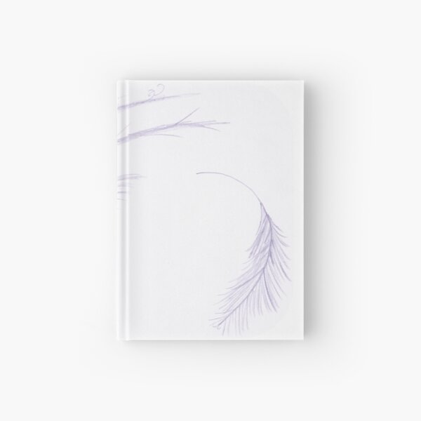 Merch #27 -- Feathery Purple Streaks Hardcover Journal