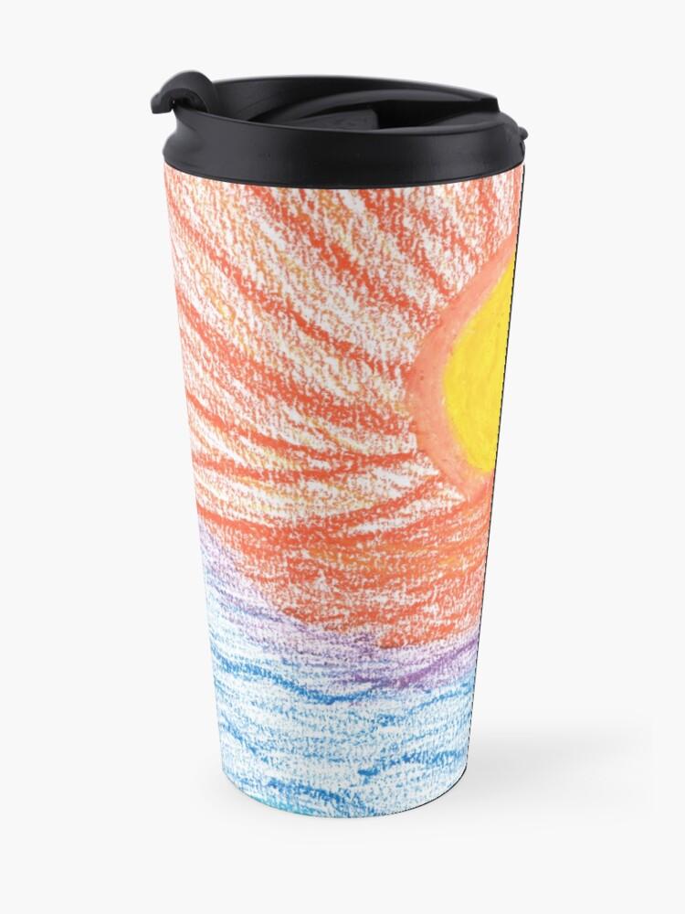 Alternate view of Merch #28 -- Sea Sunset Travel Mug