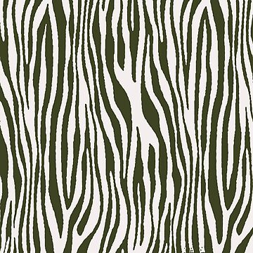 Vegan Zebra Fur Animal Print Design (White) by taiche
