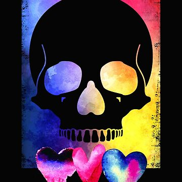 Colorful Skull for Day of Dead Halloween Design by IvonDesign