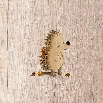 Woodland hedgehog wood texture by Kaylaya