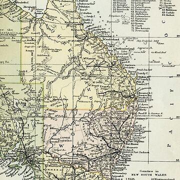 Vintage map of East Queensland, Australia  by headpossum