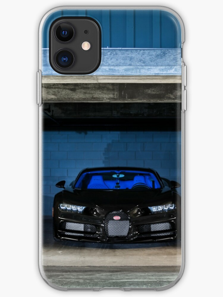 Black Blue Bugatti Chiron Iphone Case Cover By Axion23 Redbubble