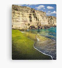 Green Sand Beach Canvas Print
