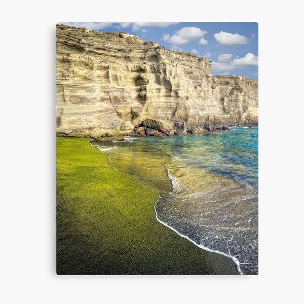 Green Sand Beach Metal Print