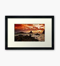 Acitrezza sunrise Framed Print