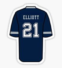 Ezekiel Elliott Jersey Sticker