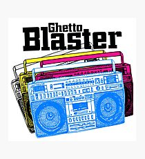 Ghetto Blaster Photographic Print