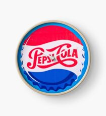 Reloj Ilustraciones de Pepsi Cola vintage logo en tapa de botella