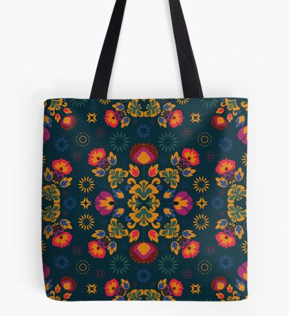 Fiesta Folk Blue #redbubble #folk Tote Bag