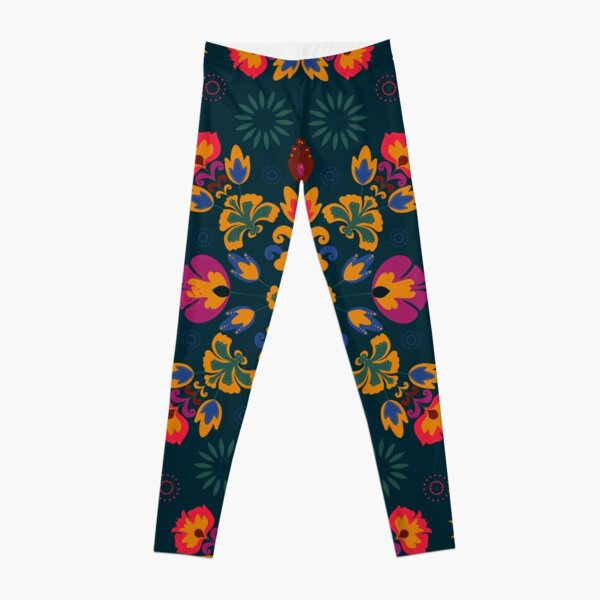 Fiesta Folk Blue Leggings