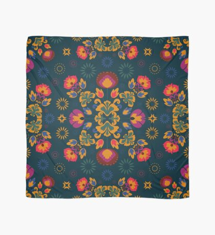Fiesta Folk Blue #redbubble #folk Scarf