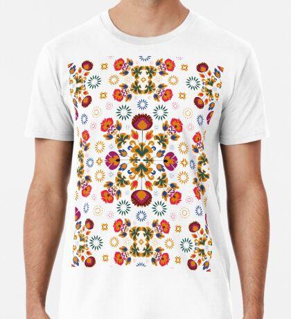 Fiesta Folk Blue #redbubble #folk Premium T-Shirt
