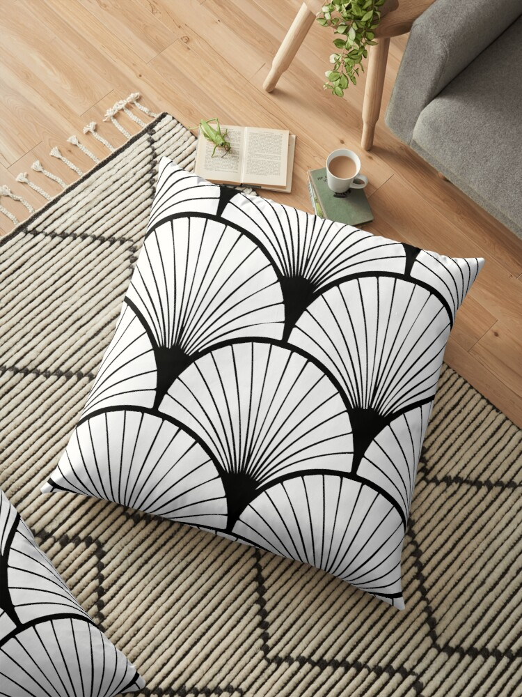 Art Deco Style Pattern Floor Pillow By Adelemawhinney Redbubble