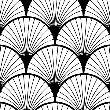 Art Deco style pattern by adelemawhinney