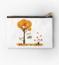 Colorful autumn and joyful children Studio Pouch