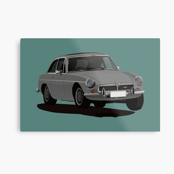 MG MGB GT V8 - illustration - dark gray Metal Print
