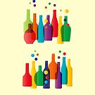 Colored bottles by grafart