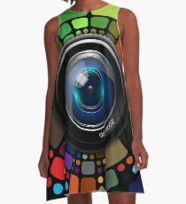 Camera Lens Rainbow A-Line Dress