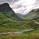 The A82 road through Glencoe, Highlands of Scotland by Richard Flint