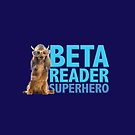 Beta Reader Superhero (dog with Viking hat) by Belinda Pollard