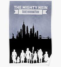 The Mighty Nein Take Manhattan Poster
