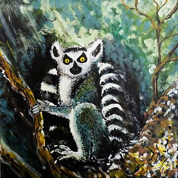 Lemur painting by Extreme-Fantasy