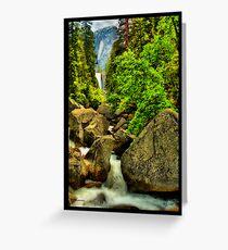 Vernal falls Yosemite national park Greeting Card