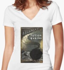 magic book Women's Fitted V-Neck T-Shirt