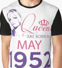 It's My Birthday 66. Made In May 1952. 1952 Gift Ideas. Graphic T-Shirt