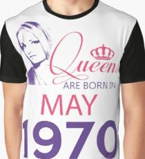 It's My Birthday 48. Made In May 1970. 1970 Gift Ideas. Graphic T-Shirt