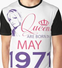 It's My Birthday 47. Made In May 1971. 1971 Gift Ideas. Graphic T-Shirt
