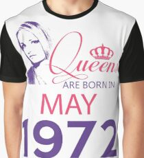 It's My Birthday 46. Made In May 1972. 1972 Gift Ideas. Graphic T-Shirt